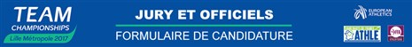 QUESTIONNAIRE OFFICIELS POUR LES CHAMPIONNATS D'EUROPE PAR EQUIPE