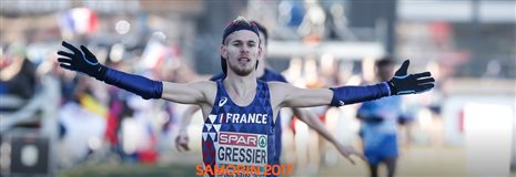 JIMMY GRESSIER DOUBLE CHAMPION D'EUROPE ESPOIR DE CROSS